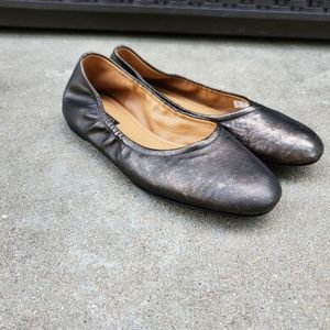 Ecco metallic bronze leather flats 39